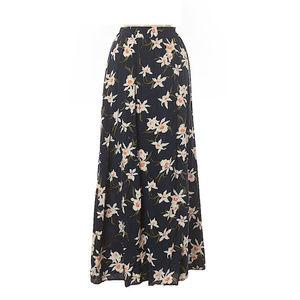 Old Navy boho tropical floral print maxi skirt XL